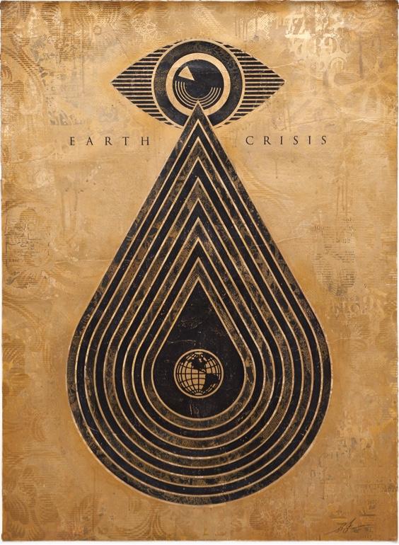 Earth Crisis Monoprint IV