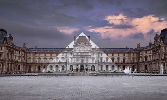 JR au Louvre, La Pyramide 7 juin 2016 21h45